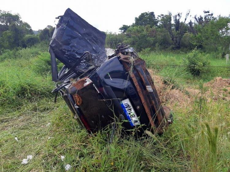 Acidente uma morte e dois feridos envolve carro com placas de Brusque na BR-282