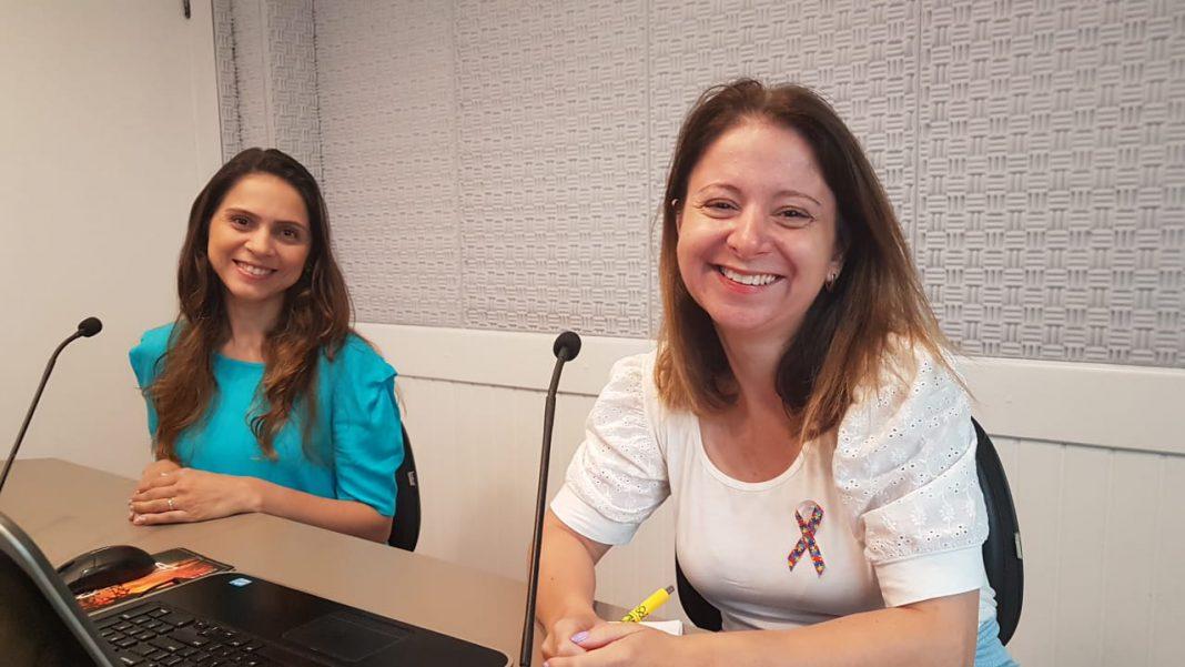 jornalista Guédria Motta e a vice-presidente, Eliane Lana Dutra,