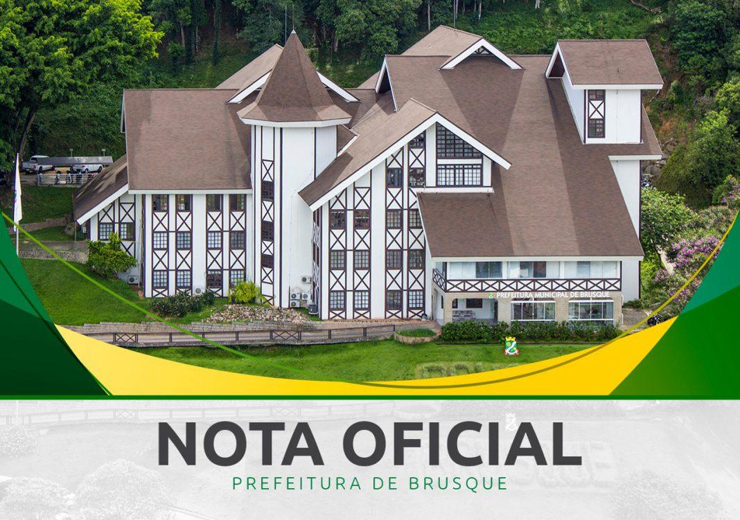 Nota Oficial Prefeitura de Brusque