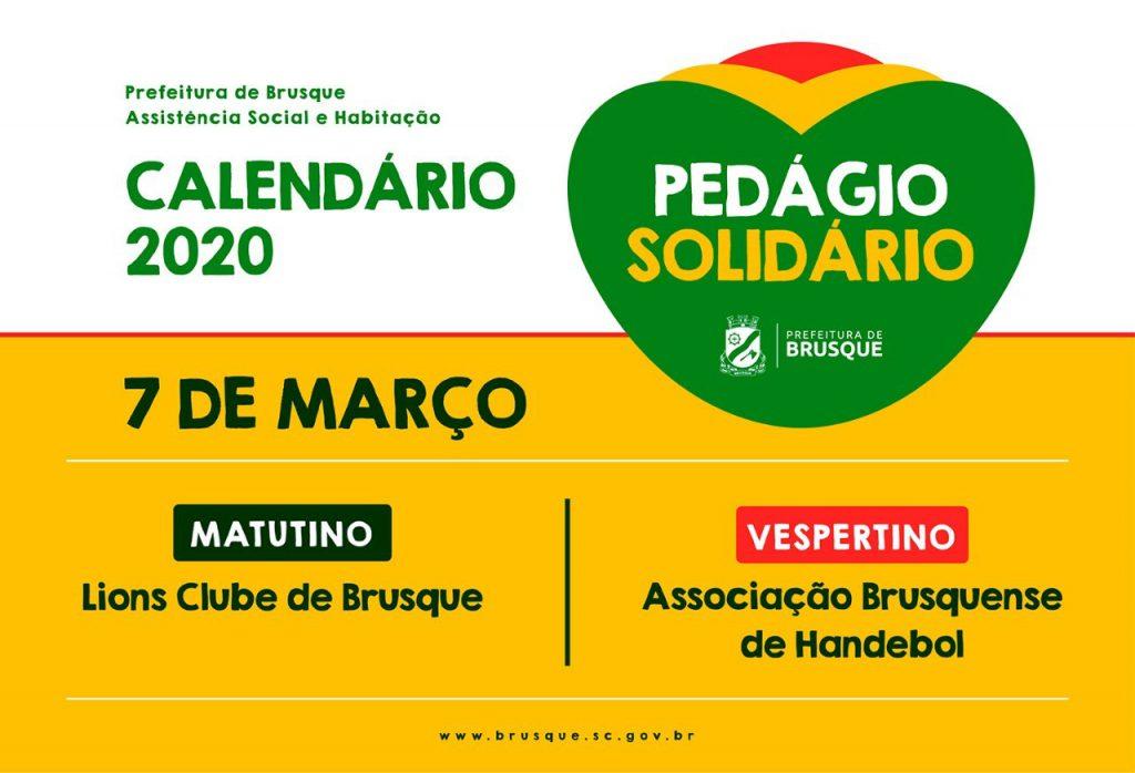 Instituições que farão o pedágio solidário neste sábado, 7.