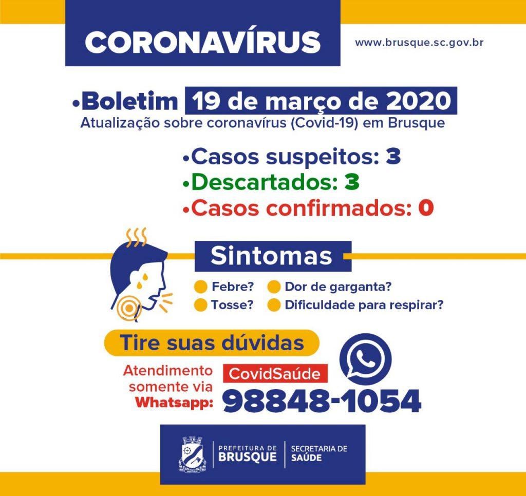 A Prefeitura de Brusque emitiu o boletim diário sobre o monitoramento do Coronavírus em Brusque.