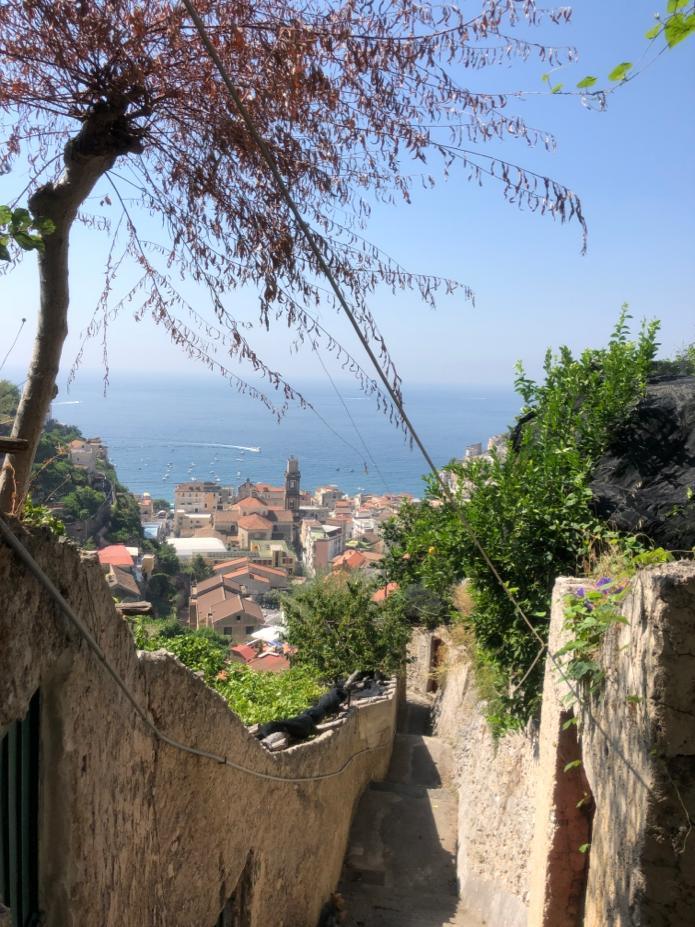 Visão da Costa Amalfitana, Sul da Itália