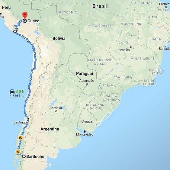 Próximo trecho de viagem até o ponto de destino, na Costa Rica
