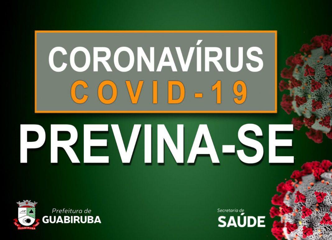 Prefeitura de Guabiruba publica decreto de orientação sobre o coronavírus