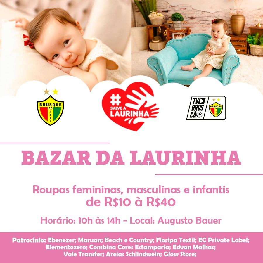 Brusque fará bazar e live solidária para ajudar a Laurinha