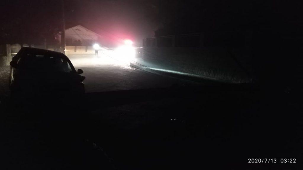 O acidente aconteceu na rua Frederico Schlindwein, no bairro Imigrantes, em Guabiruba.