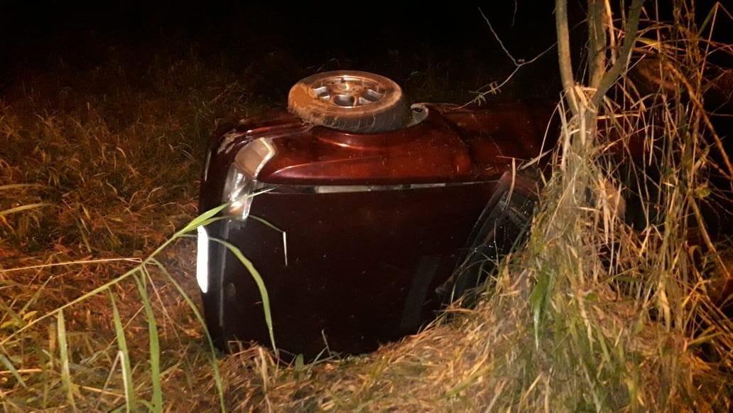 O acidente foi registrado na SC 486, na região do bairro Dom Joaquim.