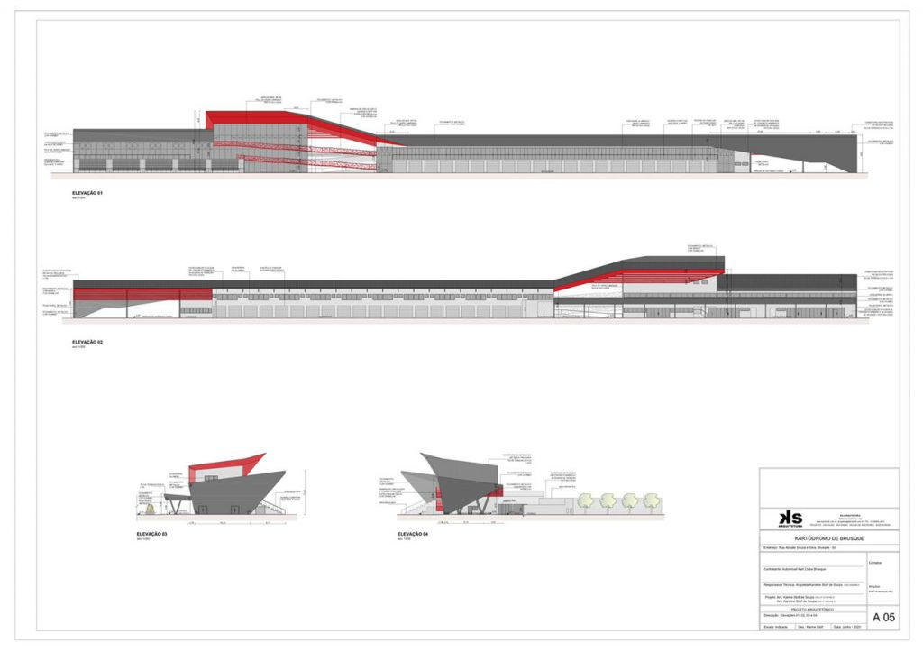 Projeto do kartódromo que será construído no Complexo Chico Wehmuth