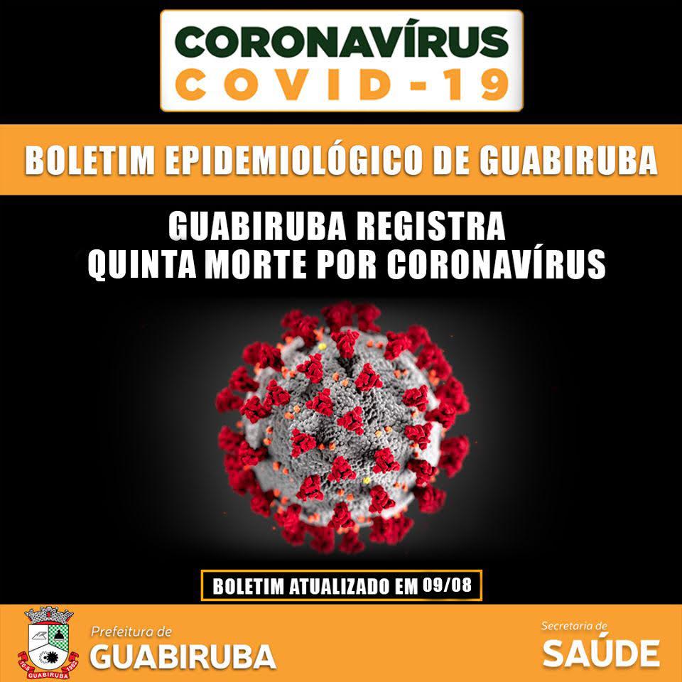 Prefeitura de Guabiruba confirma 5º óbito por Covid-19
