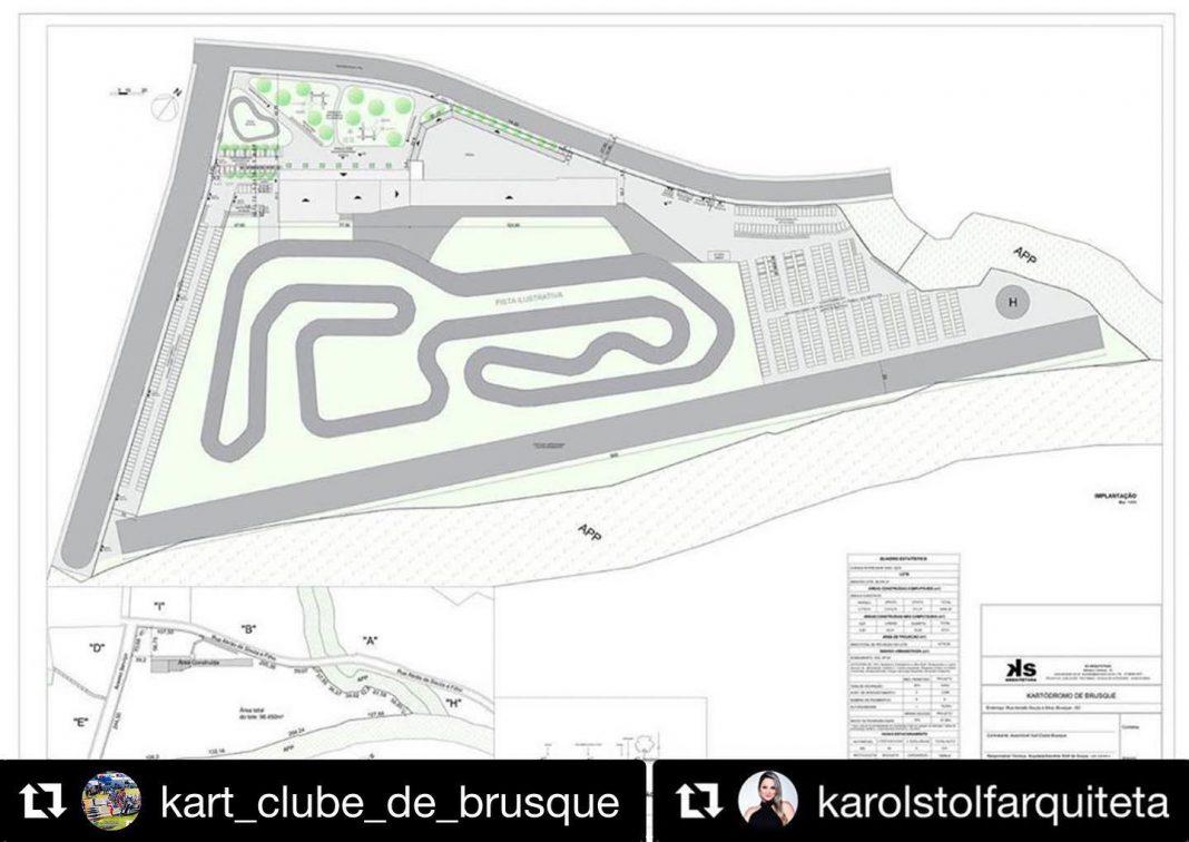 Modelo do projeto arquitetônico do kartódromo