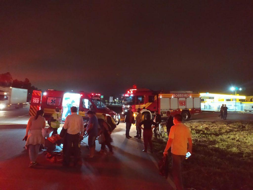 Criança e adolescente sofrem acidente na rodovia Antônio Heil