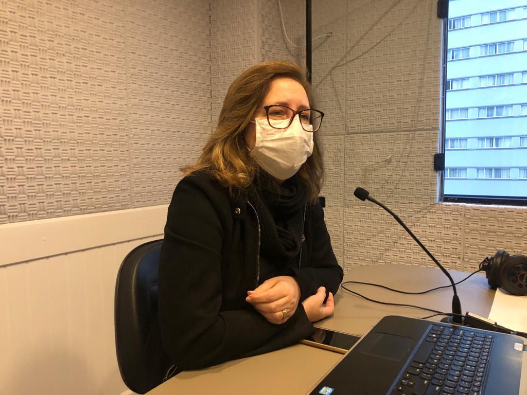 Secretária de Saúde de Botuverá, Marcia Cansian, no Jornal da Diplomata