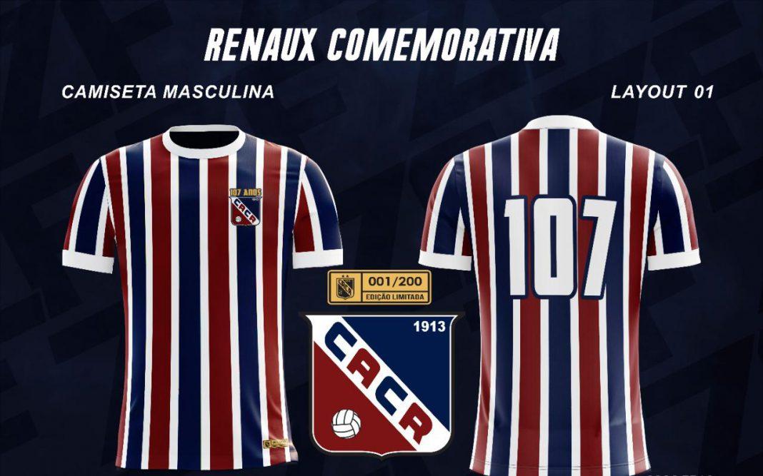 Camisa comemorativa dos 107 anos do Clube Atlético Carlos Renaux
