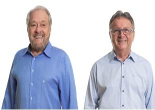 Candidatos em Brusque: Ciro Roza e Danilo Rezini