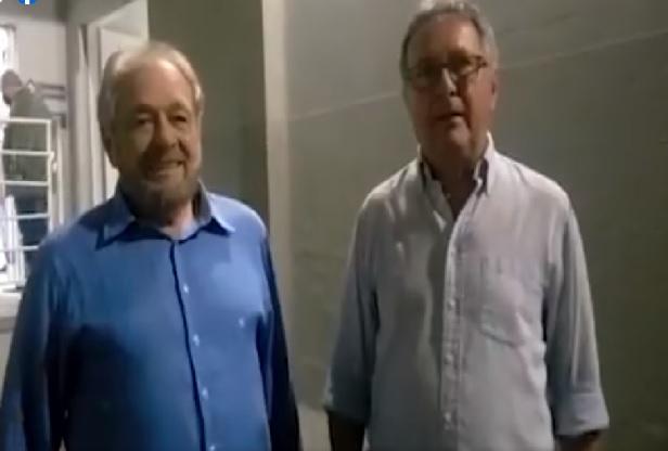 Candidato à prefeito, Ciro Roza e o vice Danilo Rezini, pelo Podemos e Cidadania