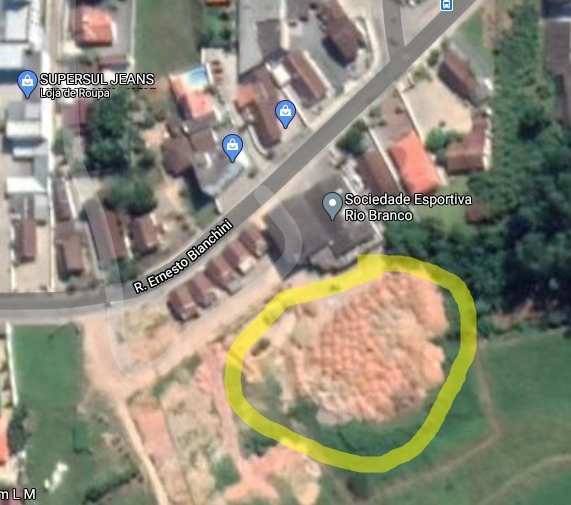 Área onde o corpo foi localizado