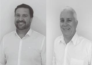 Candidatos a prefeito e vice, Marcos Habitzreuter e Jorge Ponchirolli