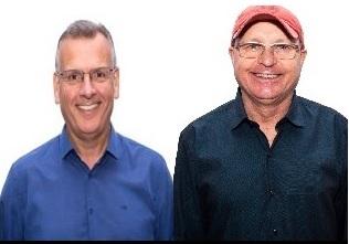 Candidatos em Brusque: Paulo Eccel e professor Deschamps
