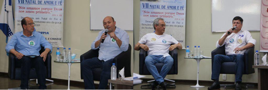 Candidatos a prefeito e vice na segunda sabatina do Grupiaupia