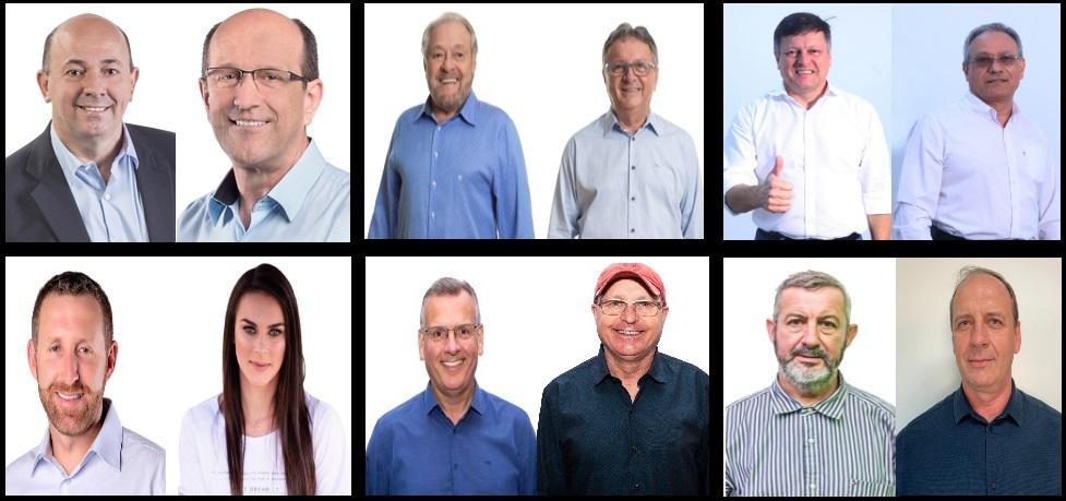 Candidatos que concorrem ao pleito municipal em Brusque
