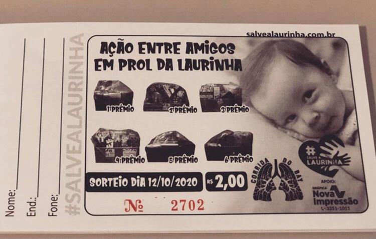Rifa promovida em prol da campanha Salve Laurinha