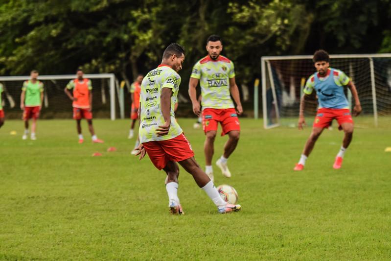 Brusque FC em treinamento para enfrentar o Volta Redonda