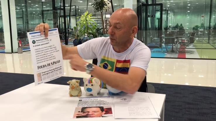 Em vídeo publicado nas redes sociais, o empresário Luciano Hang comentou as acusações contra o ex-prefeito Paulo Eccel (Imagem/Reprodução)