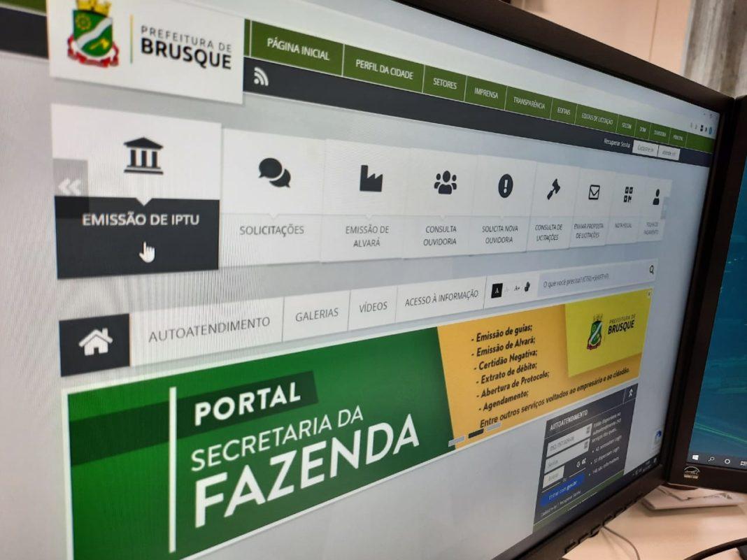 Site da Secretaria da Fazenda da Prefeitura de Brusque