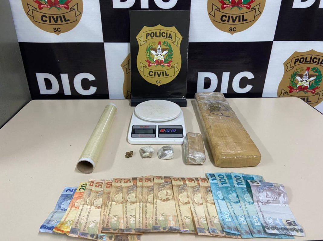 DIC apreende drogas e realização prisão de dois suspeitos por tráfico