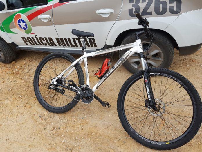 Bike recuperada pela Polícia Militar após furto