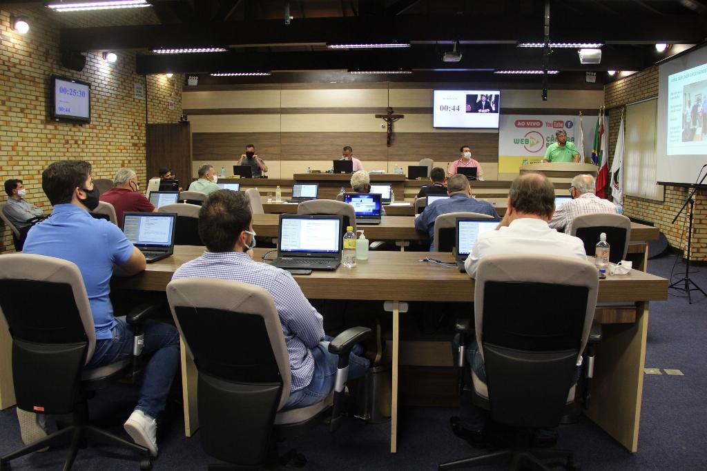 Sessão da Câmara de Vereadores de Brusque (Foto: Assessoria de Imprensa)