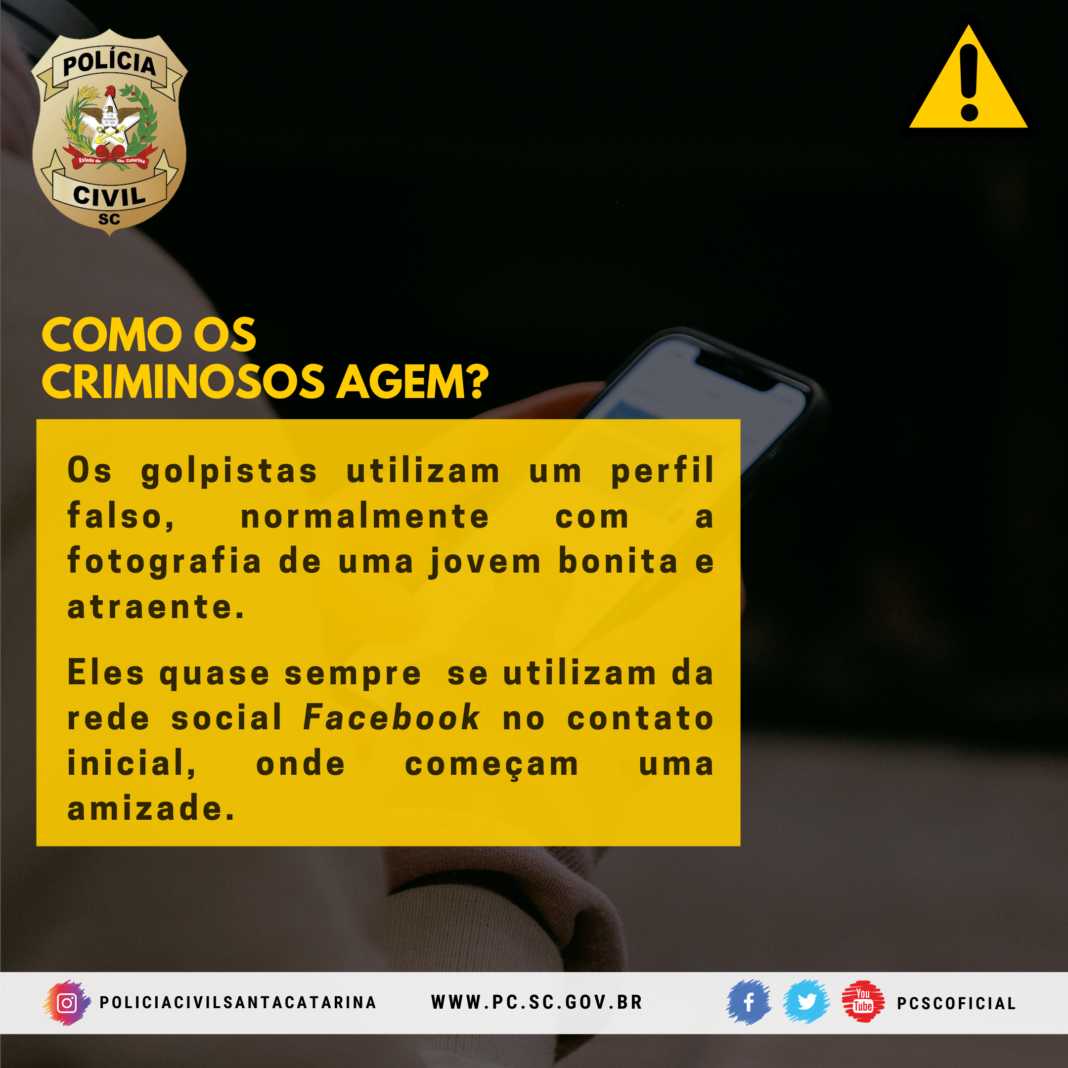 Polícia Civil - Golpe da Sextorsão/Nudes: confira