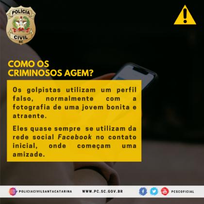 Polícia Civil alerta para golpe da Sextorsão/Nudes e dá
