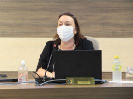 Secretária de Educação, Eliani Busnardo Buemo, na Câmara (Foto: Talita Garcia/Assessoria de Imprensa Câmara)
